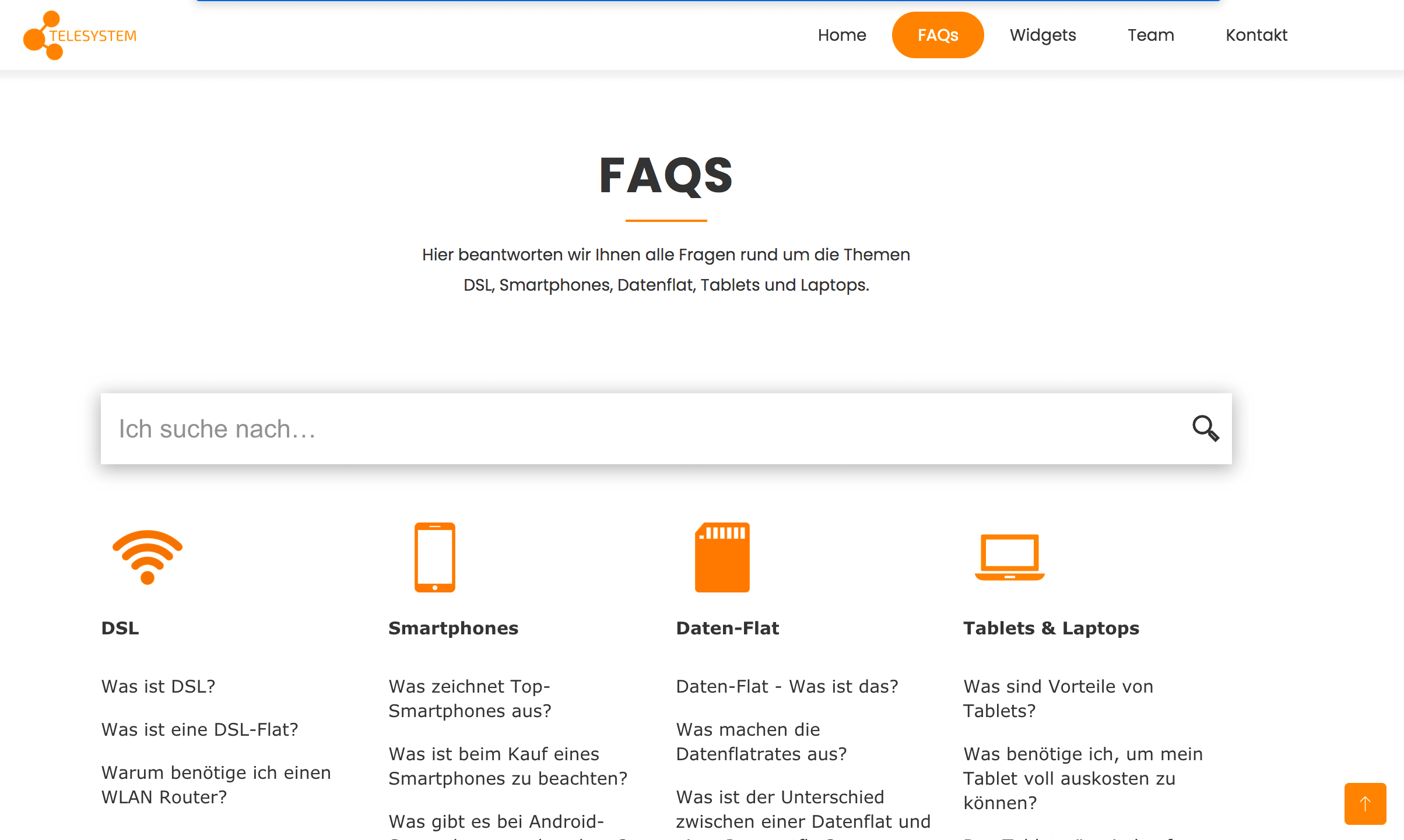 Online Suche